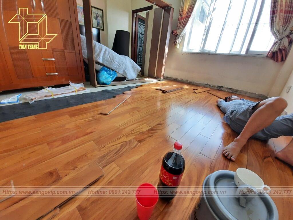 Sàn gỗ Gõ đỏ tại Phú Nhuận