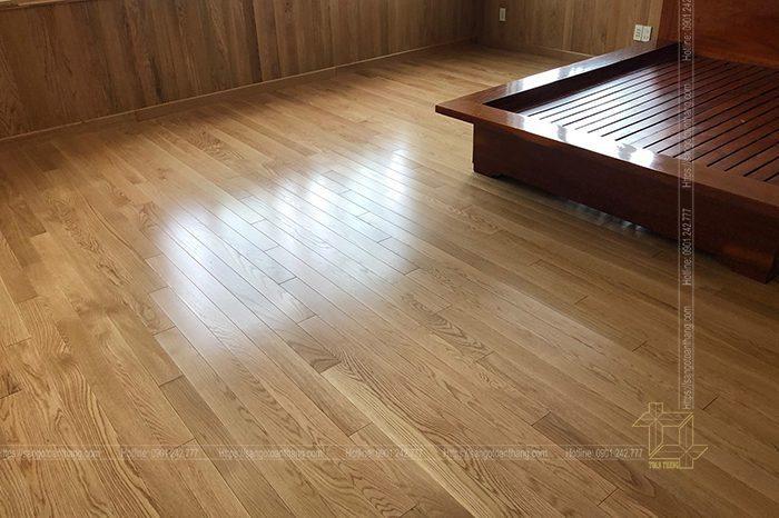 Lắp đặt sàn gỗ Sồi bản lớn