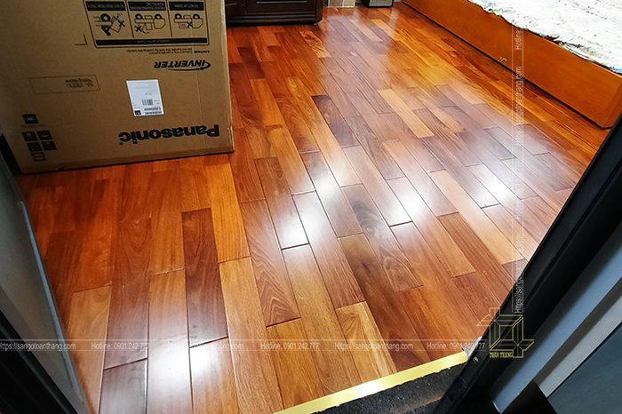 Sàn gỗ căm xem đem lại sự ấm áp cho gia chủ