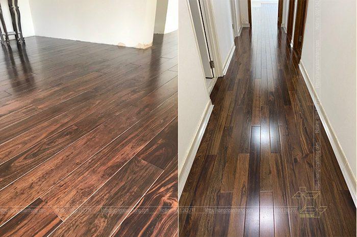 Sàn gỗ Chiu liu có vân gỗ rất đặc sắc