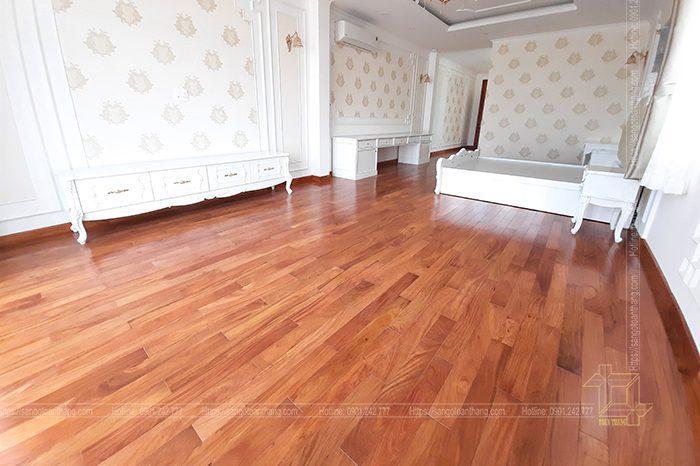 Hoàn thiện lắp đặt sàn gỗ ở Villa Khang điền - Quận 9