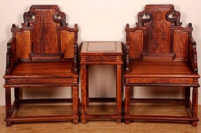 Bộ ghế Minh sản xuất từ Gỗ Giáng hương