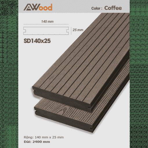 san go AWood SD140x25 Coffee