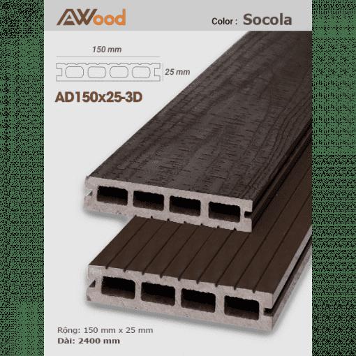 san go Awood AD150x25 3D socola