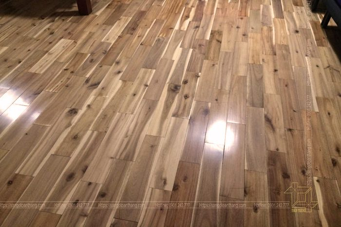 Sàn gỗ tràm tự nhiên rất tốt cho sức khỏe Gia chủ