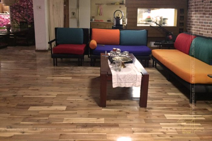 Sàn gỗ Cao su rất thân thiện với đời sống con người