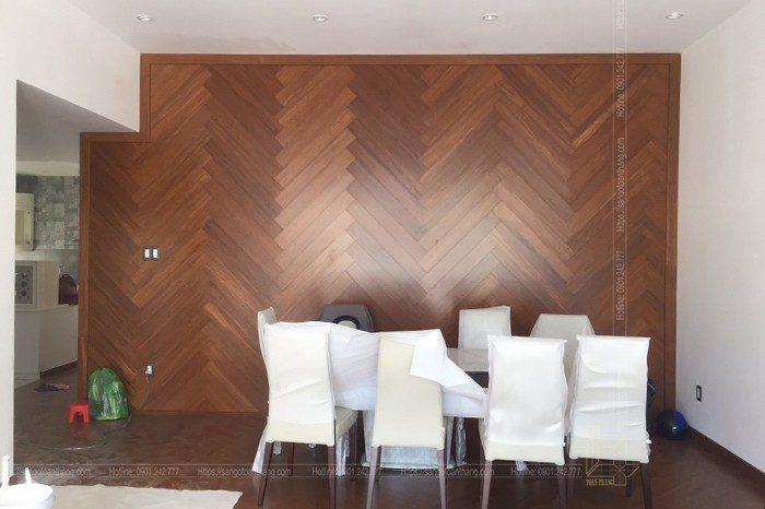 Sàn gỗ tre dùng trong ốp vách