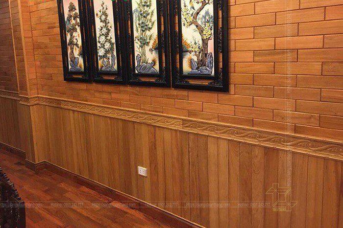 Ốp tường gỗ tự nhiên Gõ đỏ Nam Phi