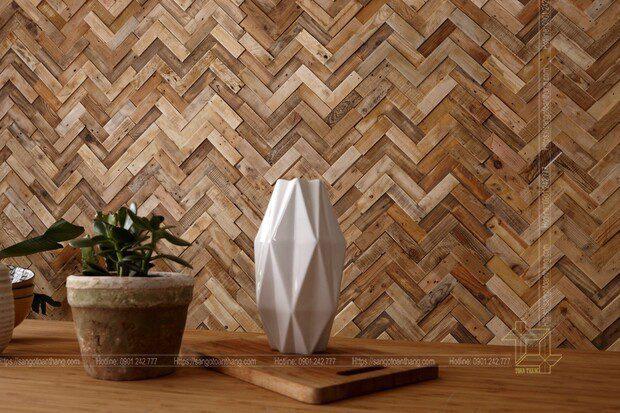 Sự đột phá phong cách ốp gỗ tự nhiên