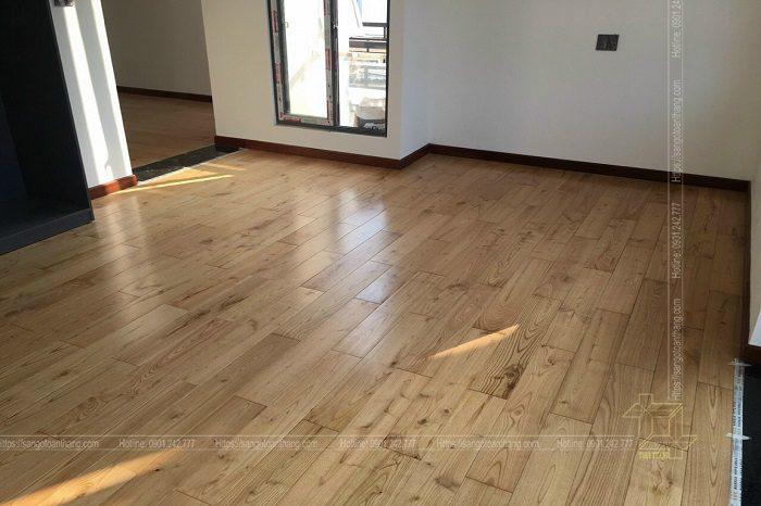 Sàn gỗ tự nhiên Tần Bì (Ash) màu sắc rất hiện đại