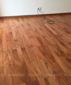 Sàn gỗ gõ đỏ thi công tại Bình Tân
