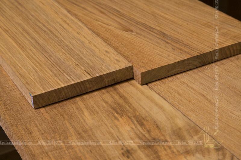 Sàn gỗ Teak Myanmar rất sáng đẹp