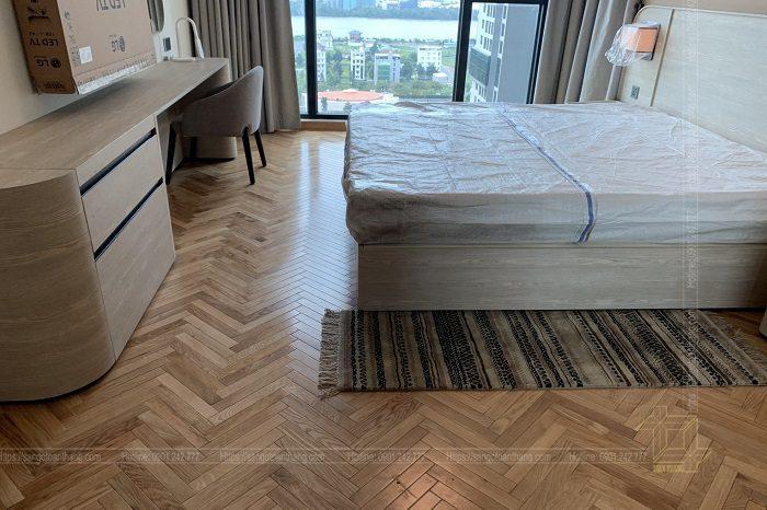 Sàn gỗ Sồi đem lại cho phòng ngủ sự ấm áp, tỉnh lặng