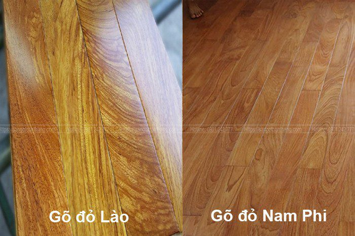 Phân biệt các loại gỗ Cà te qua đường vân gỗ