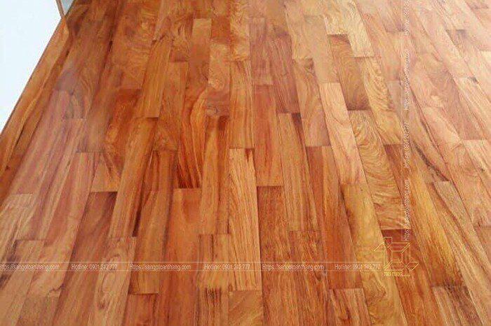 Sàn gỗ gõ đỏ Lào nói lên đẳng cấp của người dùng