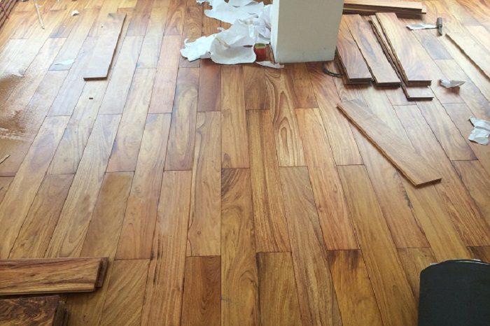 Sàn gỗ Cà te làm cho căn nhà thêm sang trọng
