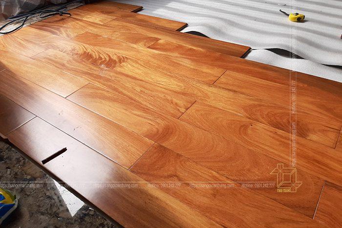 Sàn gỗ Gõ đỏ kỷ thuật lắp đặt tại Quận 3