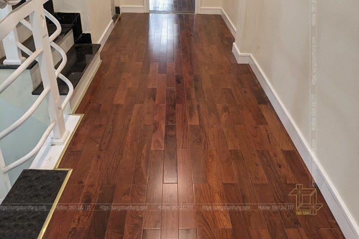 Sàn gỗ Hương sau khi hoàn thiện thì rất đẹp và đẳng cấp