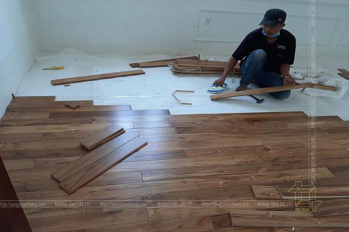Sàn gỗ Teak Lào ứng dụng rất nhiều trong các căn hộ