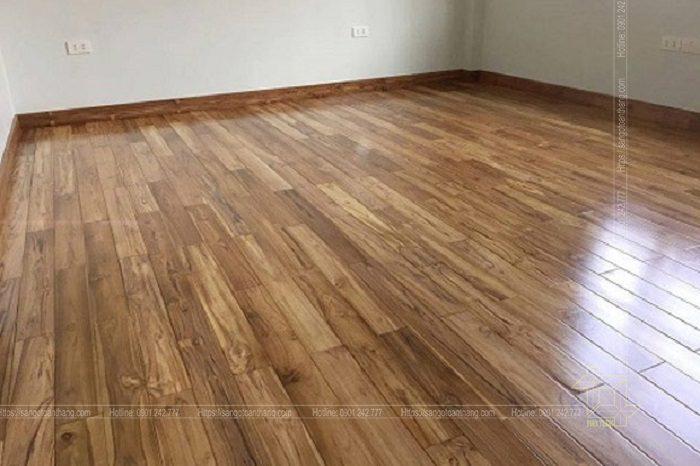Sàn gỗ Teak ghép thanh rất đặc sắc