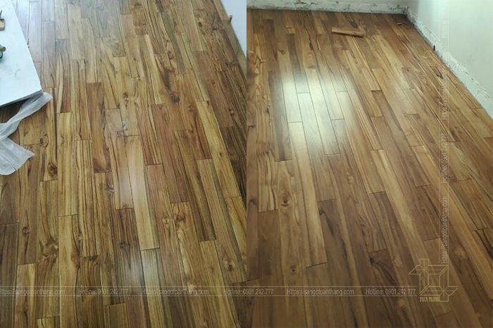 Sàn gỗ Teak có hoa văn rất đẹp