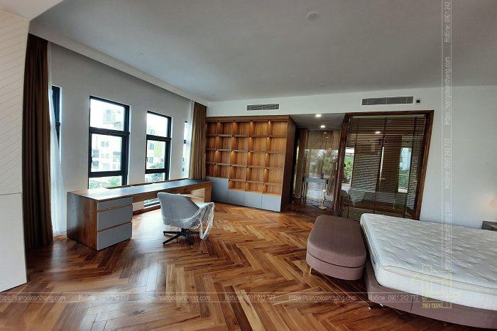 Sàn gỗ Teak khá đẹp và vân gỗ bắt mắt