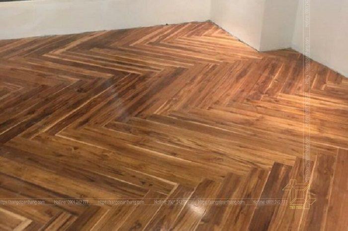 Cách xếp xương cá sàn gỗ Teak