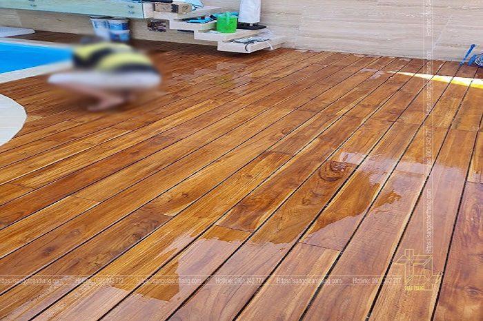 Gỗ Teak Nam Phi được sử dụng làm sàn ngoài trời