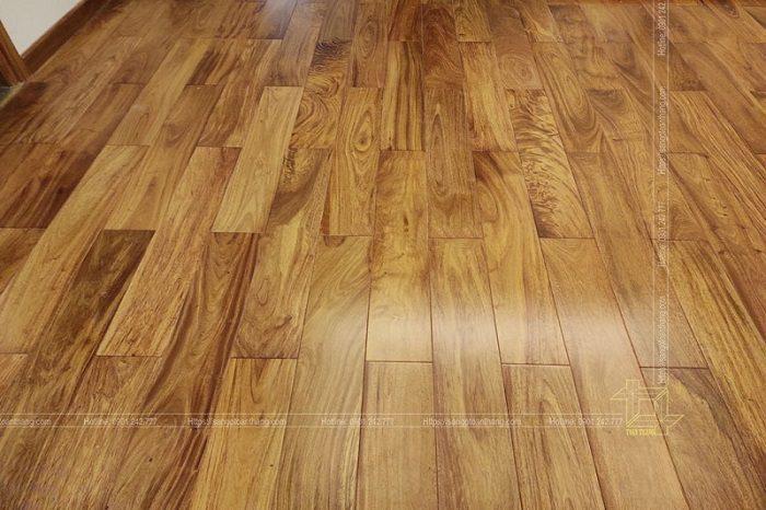 Sàn gỗ gõ đỏ lào dùng trang trí họa tiết
