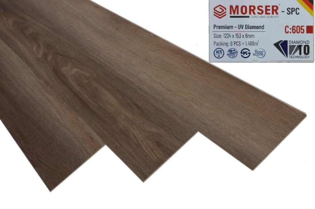 Sàn nhựa Morser vân gỗ nhìn rất tự nhiên