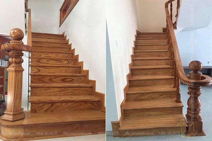 Những mẫu Trụ Cầu thang gỗ Gõ đỏ rất đa dạng