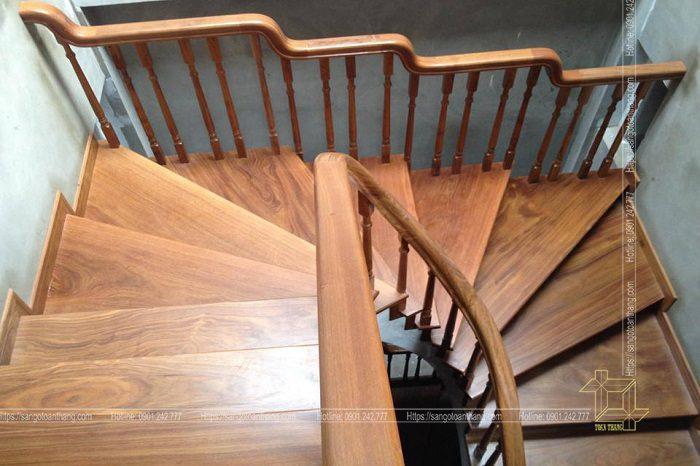 Cầu thang gỗ Lim được ứng dụng phổ biến ở miền Bắc nước ta