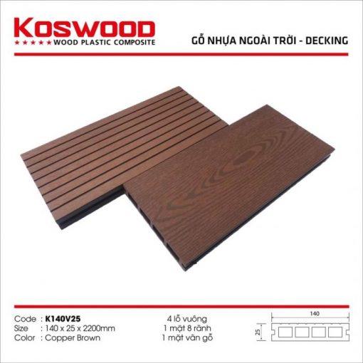 go nhua koswood copper brown 4 lo vuong s1170