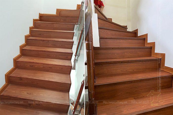Dùng sàn nhựa ốp cầu thang có rất nhiều ưu điểm mà chúng ta có thể nhận được