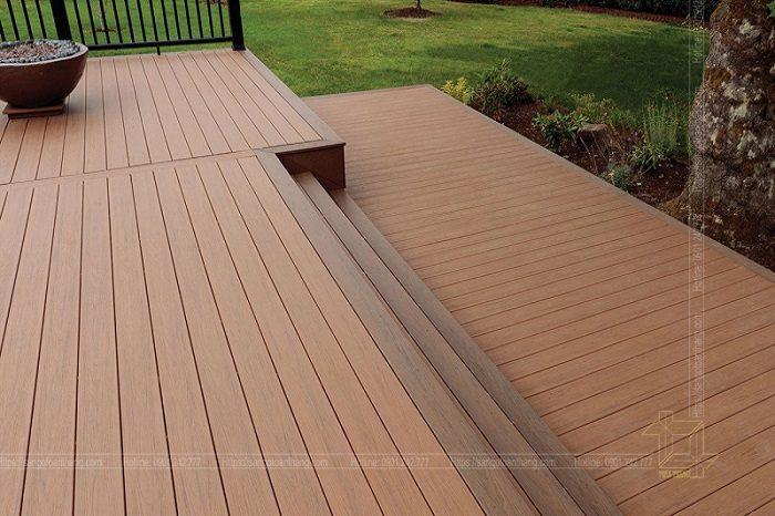 Sàn gỗ nhựa ngoài trời hiện nay được các kiến trúc sư đưa vào thiết kế khá nhiều