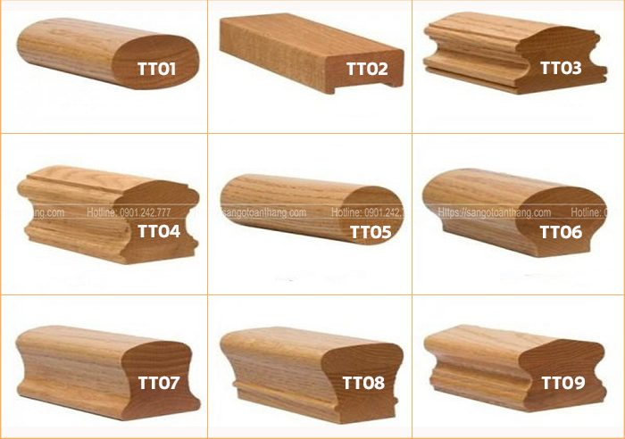 Các loại tay vịn cầu thang gỗ phổ biến nhất hiện nay