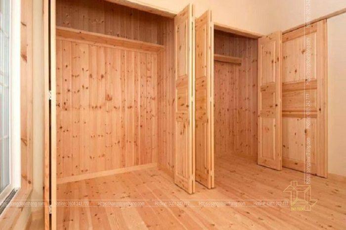 Sàn gỗ Thông được ứng dụng trong ốp vách tường