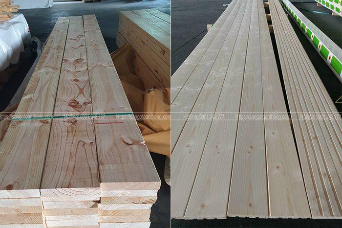 gỗ thông vân gỗ rất rõ nét