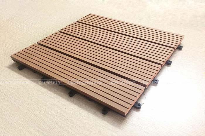 Vĩ gỗ nhựa ban công loại đặc