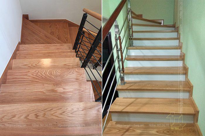 Cầu thang gỗ Sồi Nga (Tần Bì) đã đi vào hoàn thiện và giao trả mặt bằng