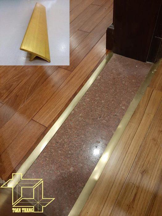 phụ kiện sàn gỗ - nẹp đồng