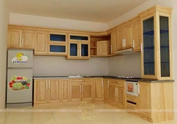 Tủ bếp được làm từ gỗ Tần Bì
