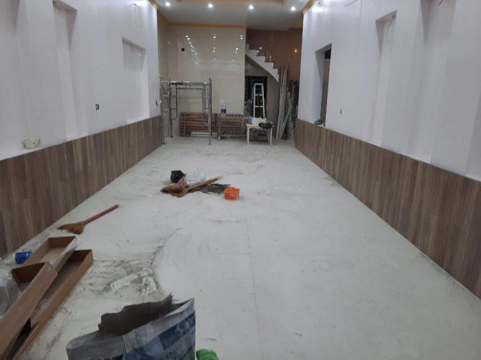 Gỗ công nghiệp ốp Lamri trang trí, chống bám bẩn tường nhà