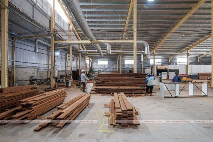 Xưởng sản xuất sàn gỗ tần bì