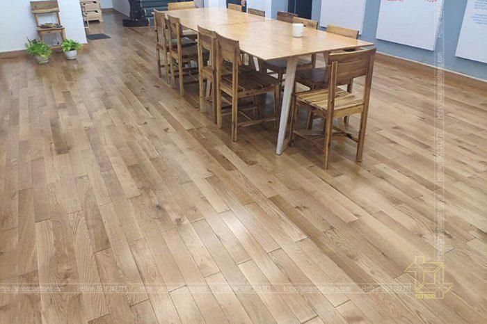 Sàn gỗ Sồi kỹ thuật rất sáng và trẻ trung