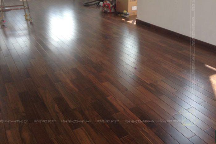 Sàn gỗ Chiu Liu thi công tại Trảng Bom