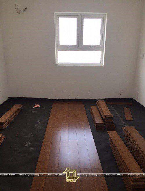 Lát sàn tre nan ngang cũng như các loại sàn gỗ thông thường