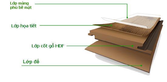 Cấu tạo Sàn gỗ Robina