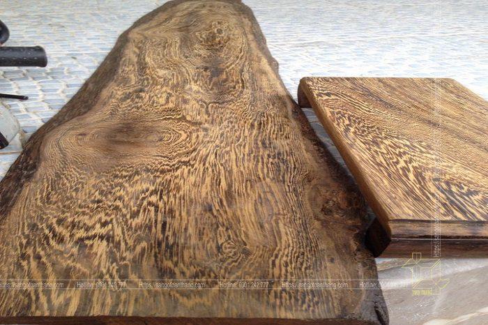 Gỗ muồng có vân gỗ rất nhiều họa tiết