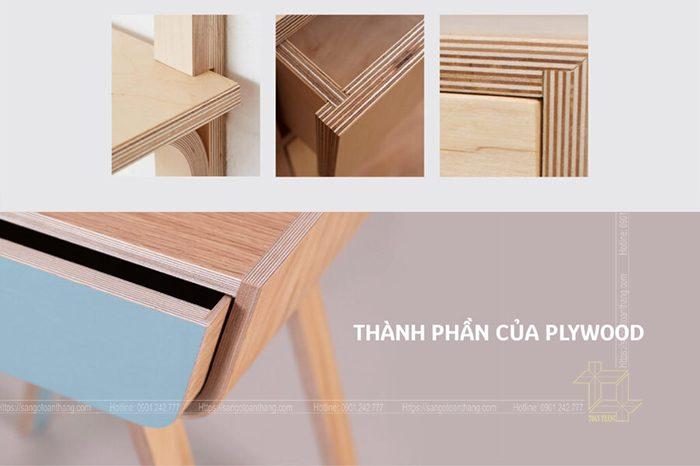 Những chi tiết được sử dụng Gỗ Plywood nhìn rất sắc sảo